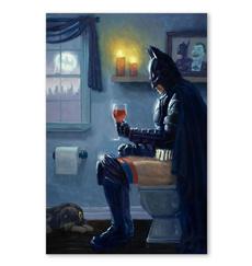 Bathroom, Batman, Canvas, wishpostercanva