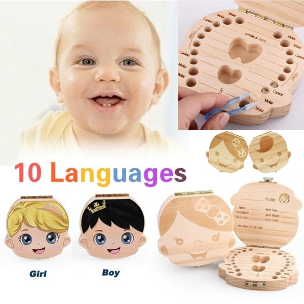 Box, babyteethorganizer, Wooden, toothstoragebox