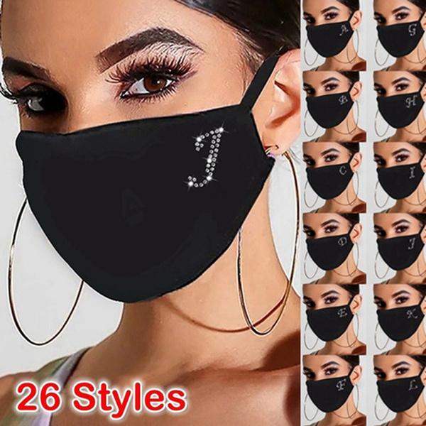 cottonfacemask, 2020facemask, sequinmask, letter print