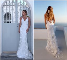 fulldre, Sexy Wedding Dress, mermaidtrumpetweddingdre, Lace