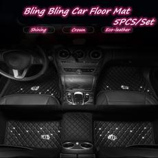 crown, Bling, carfloormatsset, Auto Parts