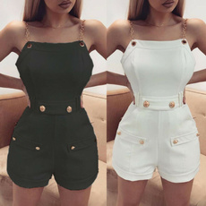 Mini, Shorts, Waist, button