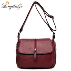 Fashion, Messenger Bags, solid, zippers