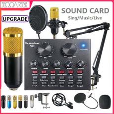 Microphone, microphonesystem, livesoundcard, v8soundcard
