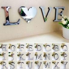 Home & Kitchen, art, mirrorenglishlettercombinationwallsticker, alphabetsticker