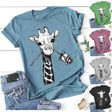 Tops & Tees, Plus Size, Cotton T Shirt, cute