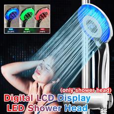 water, Head, digitaldisplay, ledshowerhead