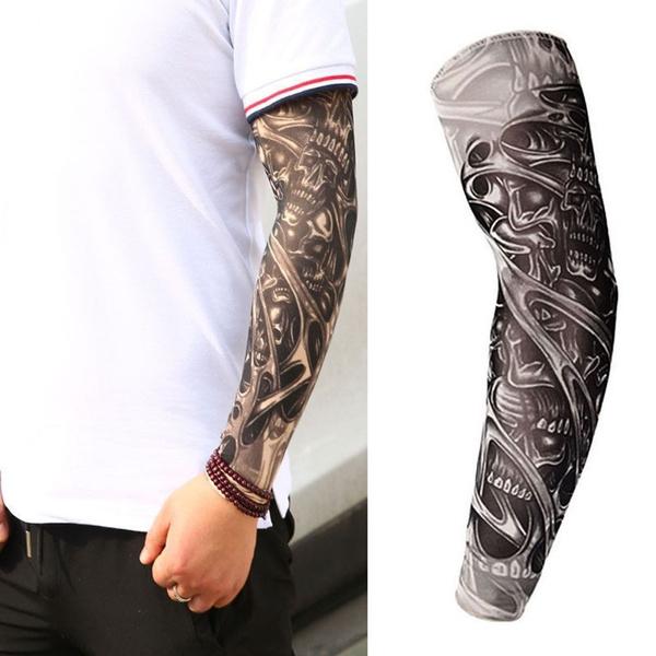 tattoo, Full, temporary, skull