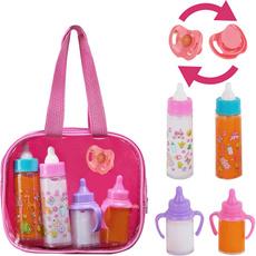 Baby, dollfeedingset, Toy, babyfeeder