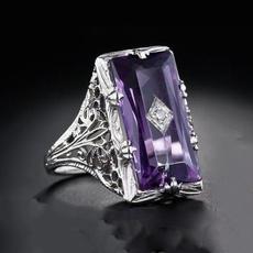 Sterling, Antique, DIAMOND, emeraldring