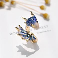 Blues, sky blue, Jewelry, adjustableopeningring