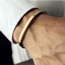 Steel, Men, Jewelry, gold