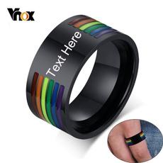 Steel, engraving, rainbow, Joyería