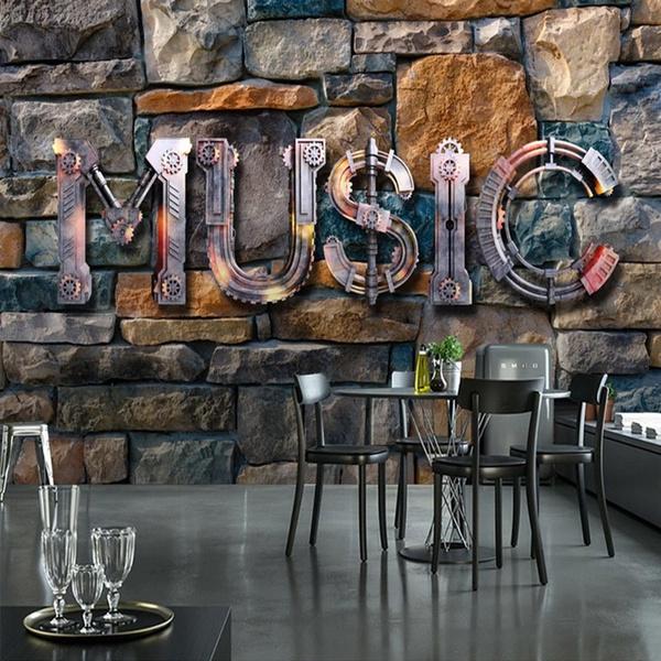 parede, Decor, Modern, Restaurant