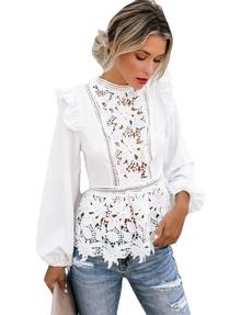 Summer, Fashion, Lace, Long Sleeve