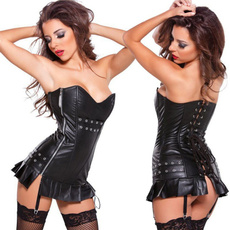 Plus Size, for, Corset, leather