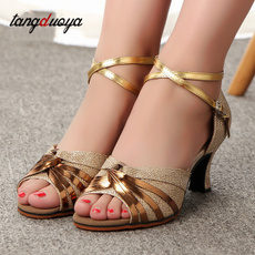 Womens Shoes, Ballroom, gold, de