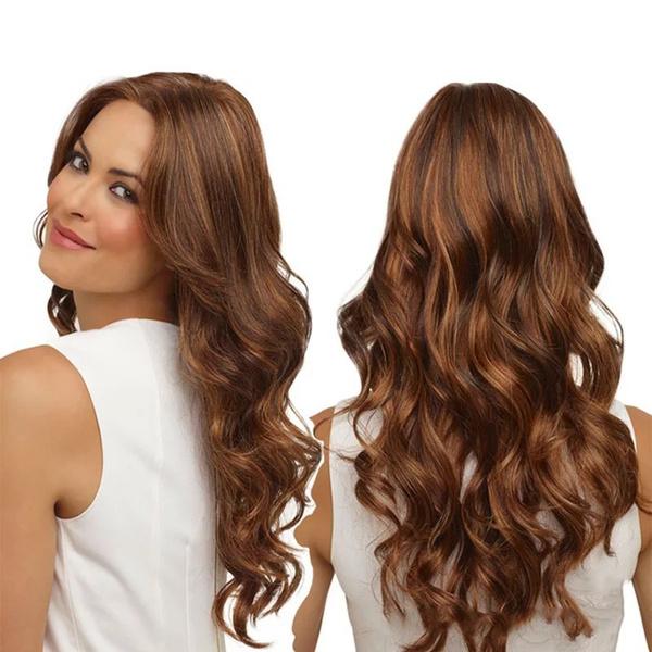 wig, Curls, Woman, long