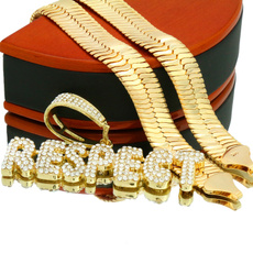 goldplated, 18k gold, gold, Chain