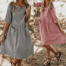 Summer, Plus Size, Sleeve, sundress