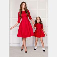 daughter, Family, Dresses, Dress