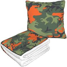 Blanket, Orange, vintagepillow, pillowblankepillowblanke