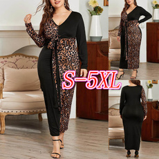 Plus Size, long sleeve dress, highwaistdres, leopard print