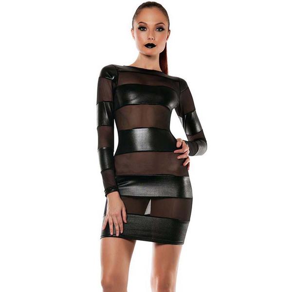 Mini, leather dress, Shorts, short dress
