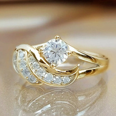 DIAMOND, wedding ring, gold, Silver Ring
