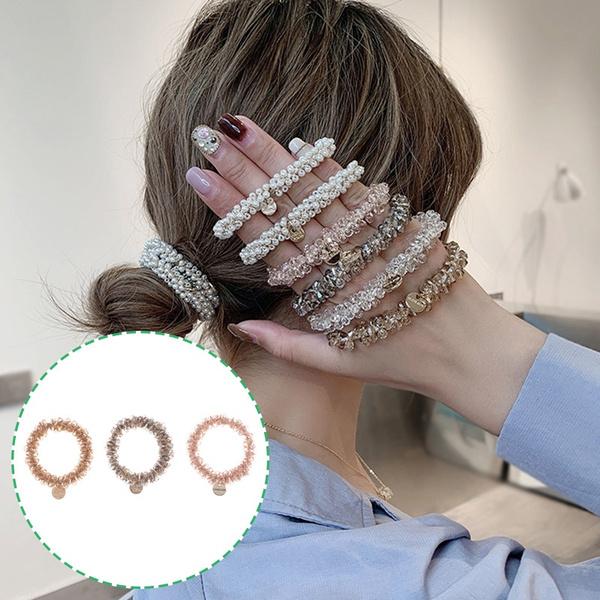 hairscrunchy, rubberband, pearls, hairrope