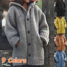 Casual Jackets, Plus Size, hooded, women coat