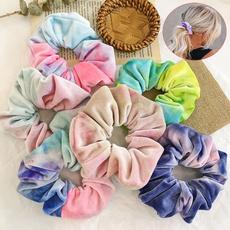 rainbow, headwearforwomen, hairscrunchie, satinhairrope