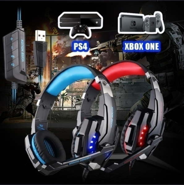 ps4headset, led, gamingheadset, Wired Headset