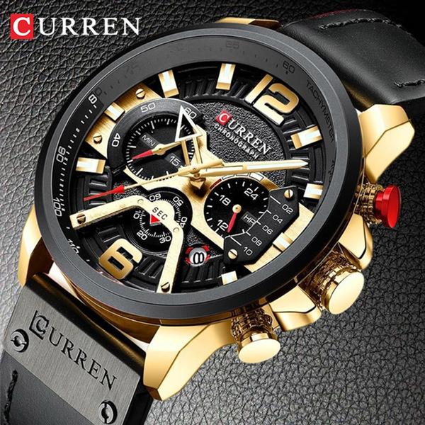 Chronograph, subdial, Clock, Mens Watch