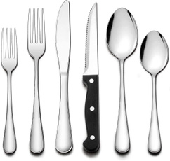 Steel, Stainless, Dishwasher, Set