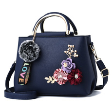 Flowers, leather, Clutch, clutch bag