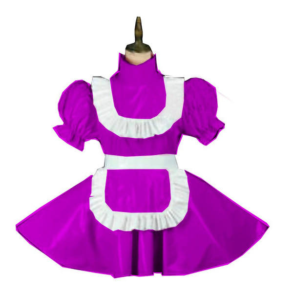 sexy uniform, Mini, Plus Size, pleated dress