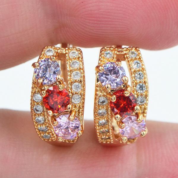 yellow gold, topazjewelry, mystictopazearring, Jewelry