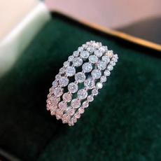 DIAMOND, lover gifts, 925 silver rings, Diamond Ring