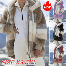Casual Jackets, Plus Size, fur, Winter
