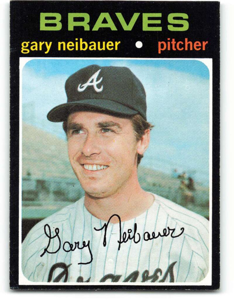 Baseball, garyneibauer, 1971baseballcard, Atlanta Braves