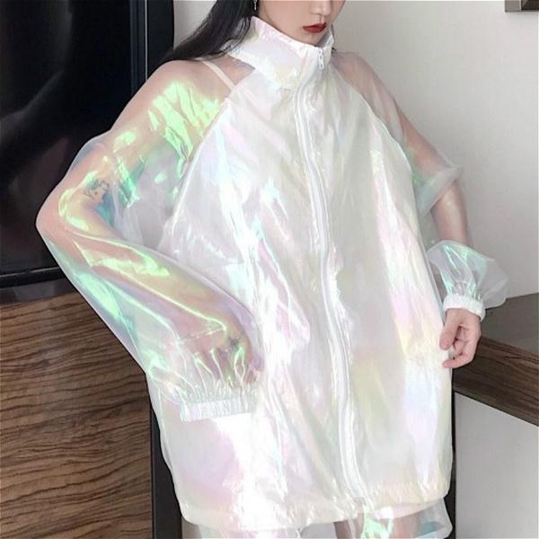 womentransparentjacket, Fashion, shinyjacket, Shiny