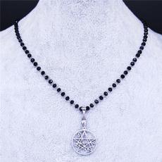 patchsatanicpinjewelry, Steel, Men  Necklace, necronomiconnecklace