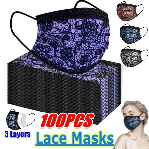 Fashion, blackmask, Lace, Elastic