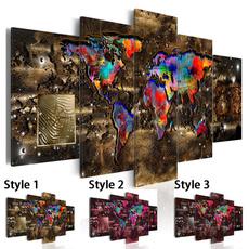 Map, canvaswallart, Fashion, art
