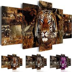 Tiger, Decor, Jewelry, gold