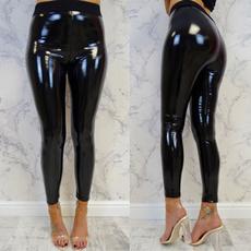 shiny leggings, Fashion, skinny pants, Women Leggings