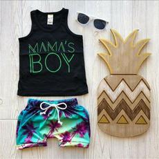 Boy, Shorts, Tank, Swimming
