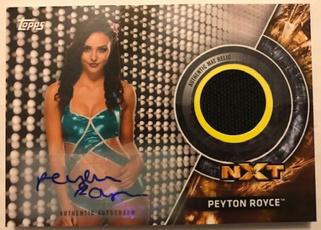 WWE, peytonroyce, matrelicautograph, 2018wrestlingcard