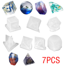 Triangles, casting, resinset, Silicone